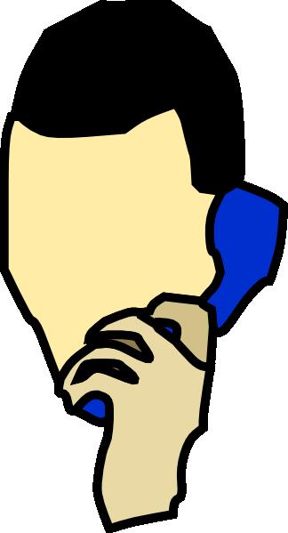 Man talking on the phone clip art at vector clip art