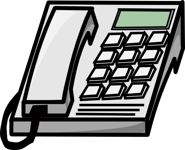 Office phone clip art at vector clip art online