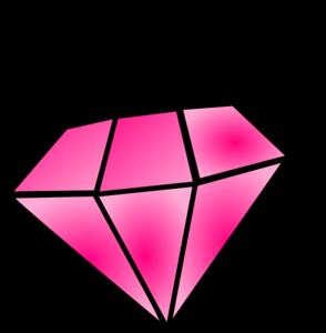 Pink diamond clip art at vector clip art online