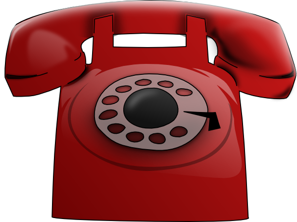 Red phone clip art at vector clip art online royalty
