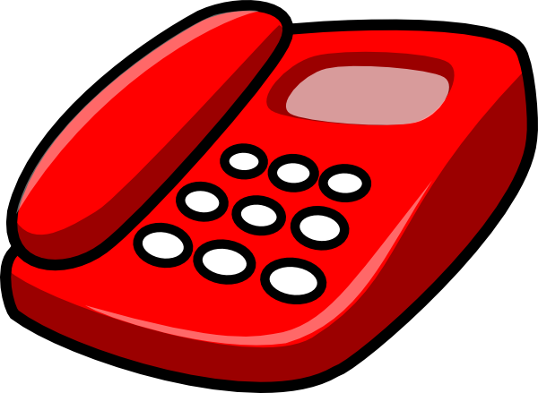 Red telephone clip art at vector clip art online