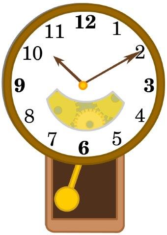 School clock clipart clipart image #10690