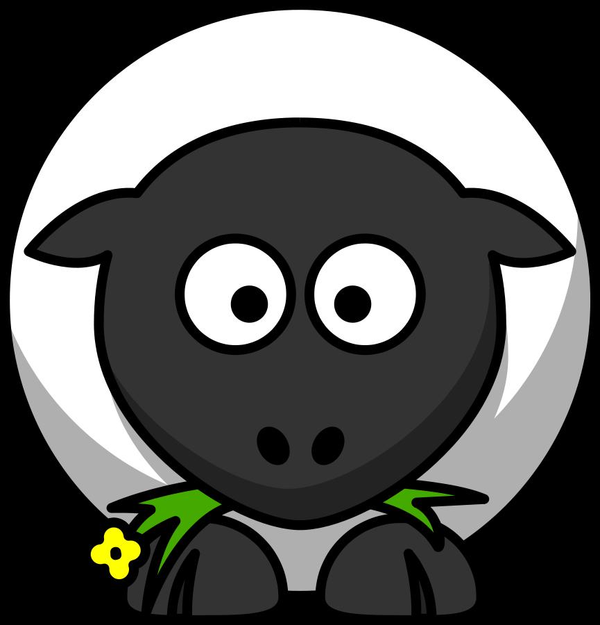 Sheep clip art cartoon