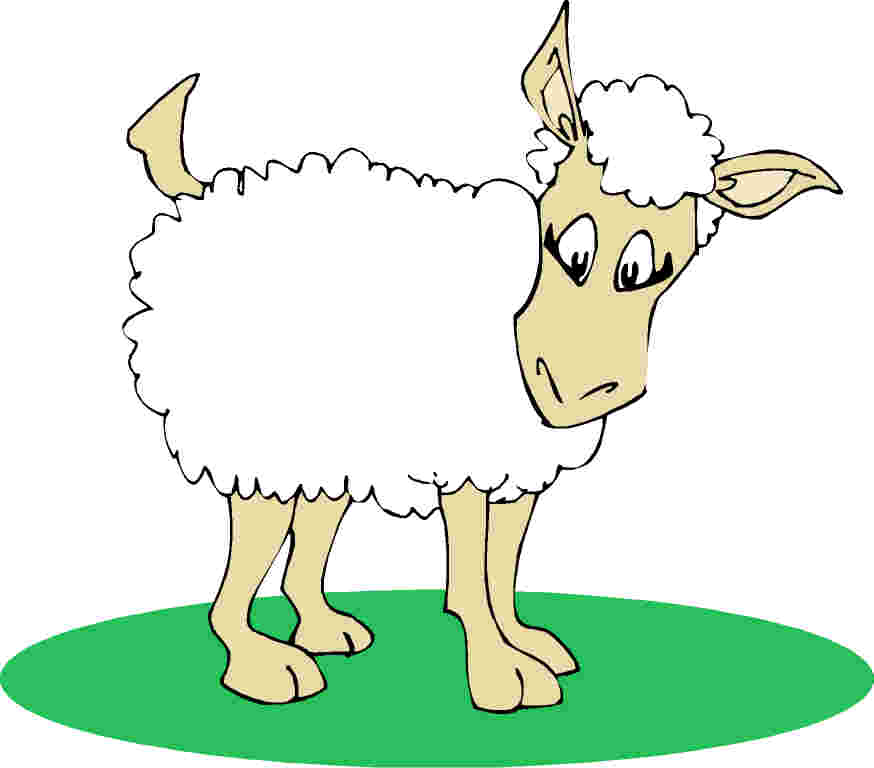 Sheep clipart 6