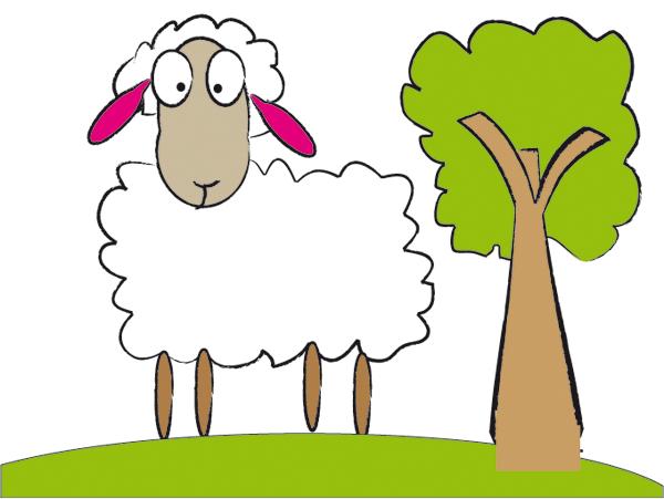 Sheep clipart 7