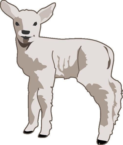 Small sheep clip art free vector