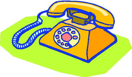 Telephone clip art 3