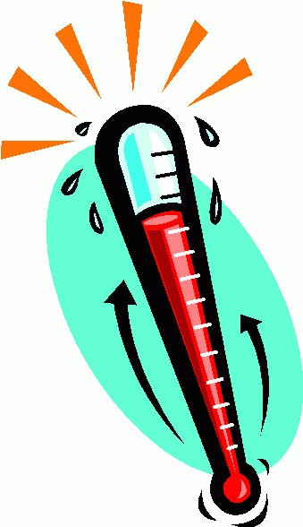 Thermometer clipart hot clipart