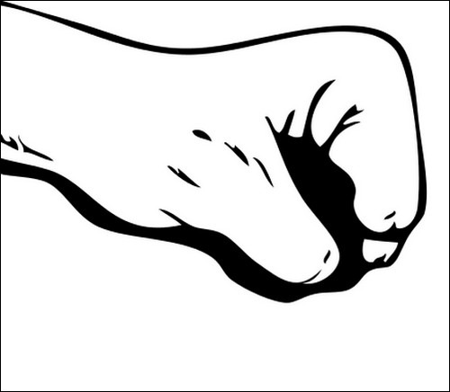 Hand outline template printable clipart image #11240