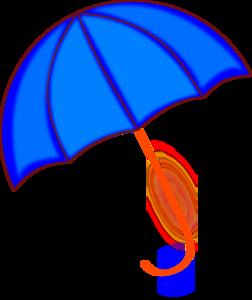 Blue umbrella clip art at vector clip art online