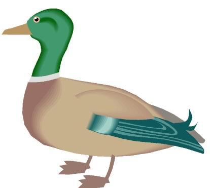 Ducks clip art 2