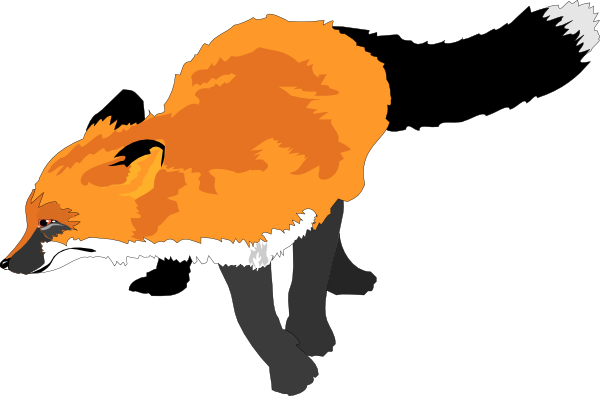 Fox running clip art at vector clip art online