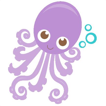 Large octopus5 clip art