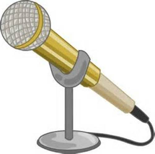 Vintage microphone at clkercom vector online clipart free ...