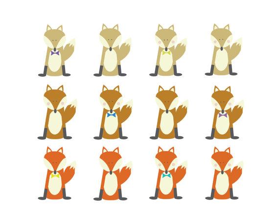 Off sale fox clip art woodland clipart animal clip art digital