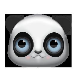 Panda face2 clip art