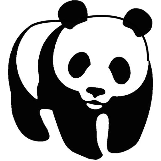 Panda outline clipart