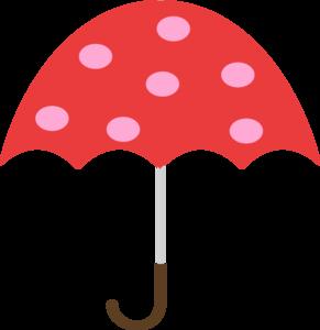 Polka dot umbrella clip art at vector clip art online
