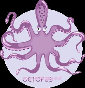 Purple octopus clip art at vector clip art online