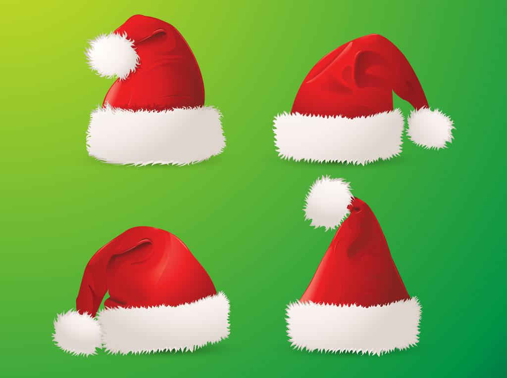 Santa hats clip art
