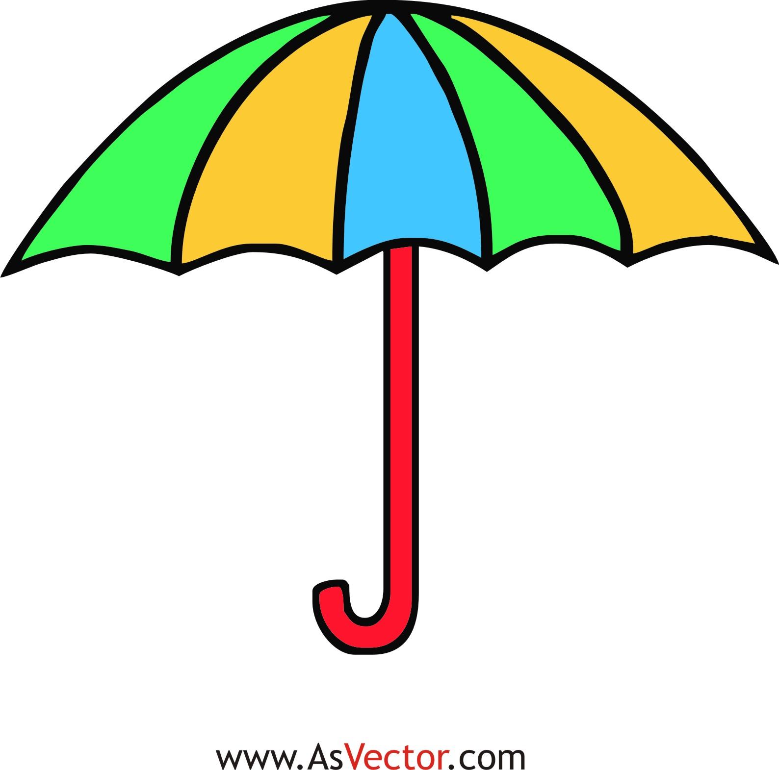 Umbrella lights clipart