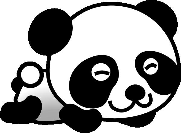 Vector panda clipart