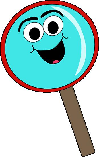 Cartoon magnifying glass clip art cartoon magnifying glass
