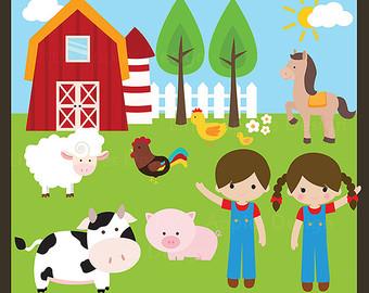 Cute Farm Clipart Image 12166