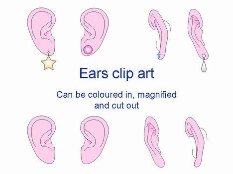 Ears outlines powerpoint template 1 clipart