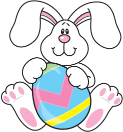 Easter bunny clipart free easter bunny with eggs clip art 2