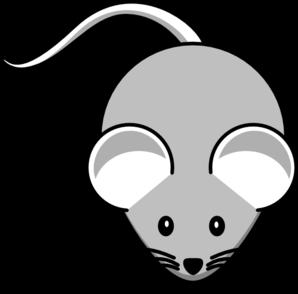 Light gray mouse clip art at vector clip art online
