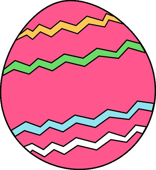 Pink zig zag easter egg clip art pink zig zag easter egg image