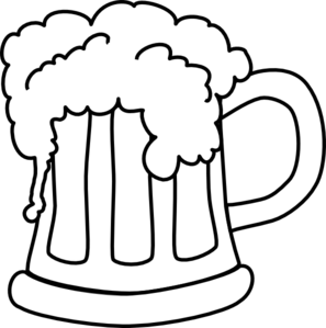 Beer monochrome clip art vector clip art free