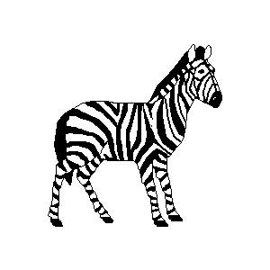 Cool zebras clipart