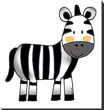 Cute baby zebra pictures clipart
