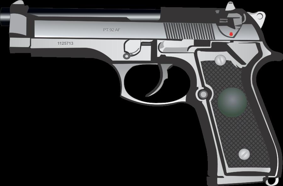 gun 9mm pistol clipart vector clip art free design image #12446