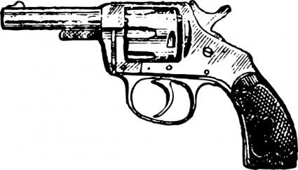 Gun pistol clip art vector pistol graphics