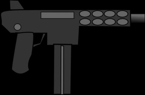 kg 9 machine gun free vector svg clip art image #12449