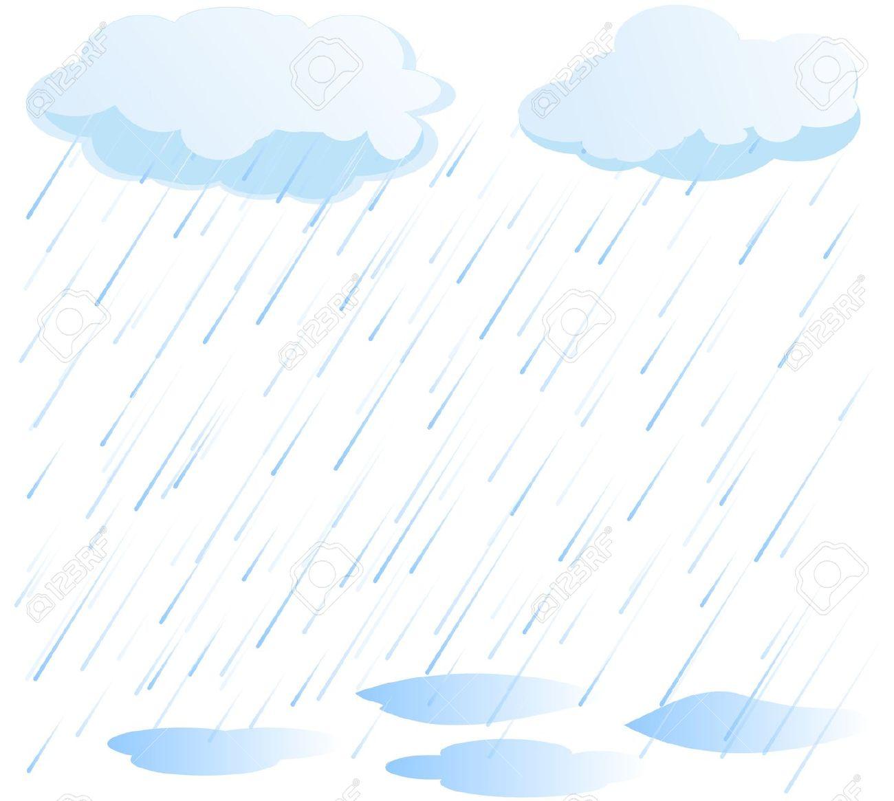 Rain background clipart