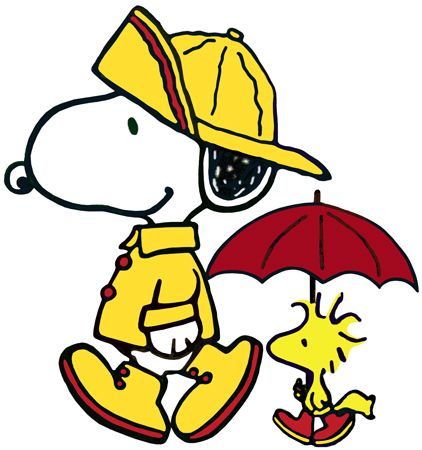 Snoopy rain clipart