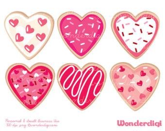 Valentine cookie clipart