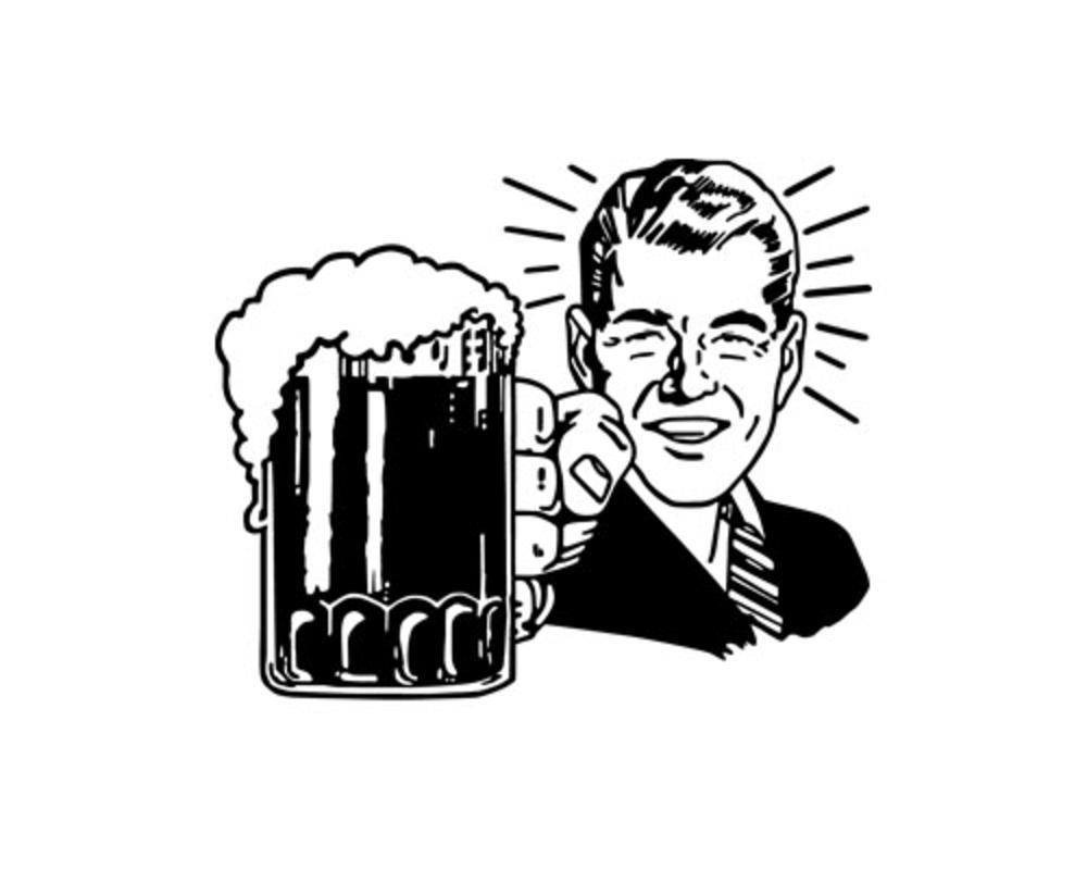 Vintage beer clipart