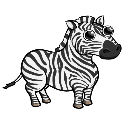 Zebra free to use  clipart