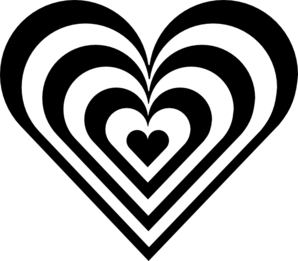Zebra heart clip art at vector clip art