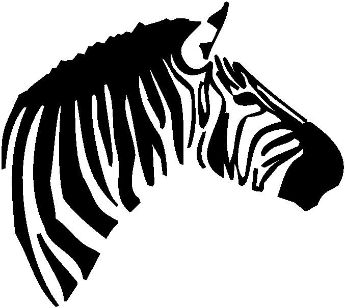 Zebras clip art 2
