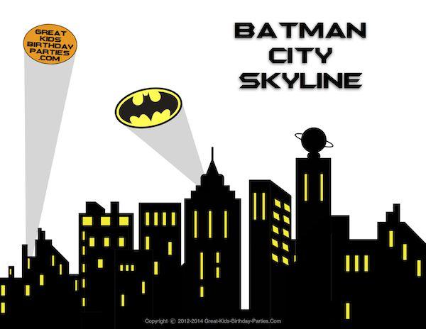 Batman cityscape clipart