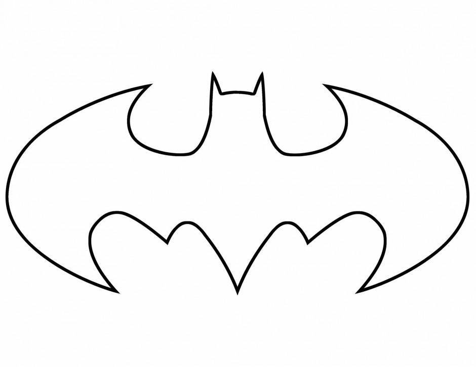Batman logo coloring pages clip art