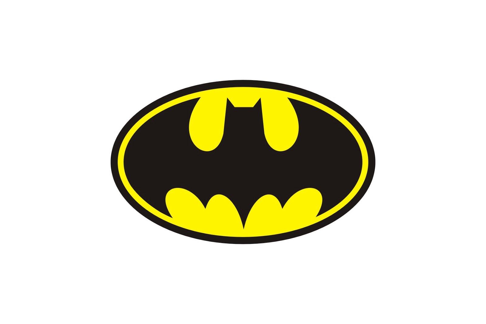 Batman logo printable clipart
