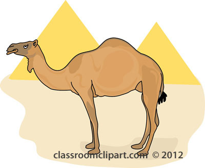 Camel clipart camel in front of egypt pyramids classroom