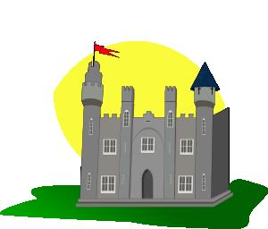 Castle clip art free vector
